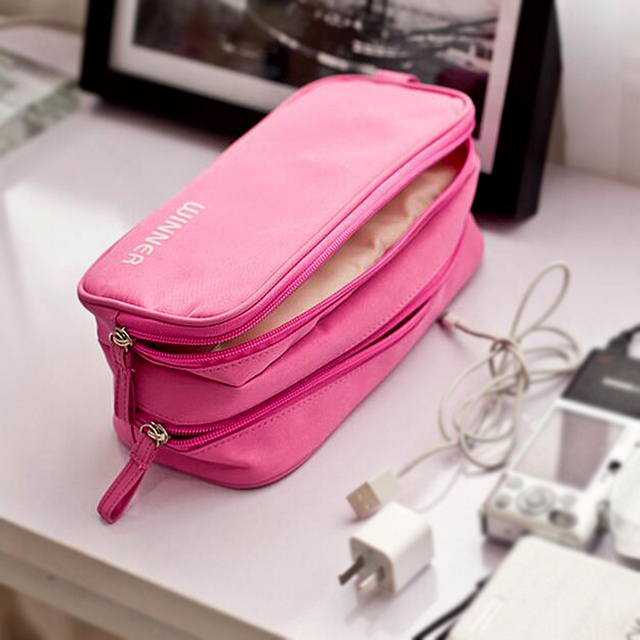 Small Cosmetic Bags Makeup Bag Women Travel Toiletry Professional Storage Necessaries Digital Packet Organizer Case