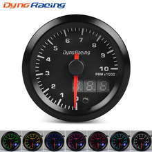 Dynoracing 52mm Dual Display Tachometer 0-10000 Rpm Gauge 7 colors Led Car Meter With Stepper Motor BX101495