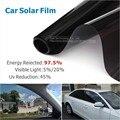50x300cm VLT 5%/20% Car Side Window Black Tint Film Glass  Auto House Solar UV Protection Summer Prevent Ultraviolet Car Styling