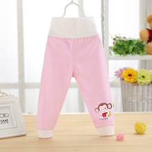 2019 new cartoon monkey baby pants spring boy and girls quality children high waist trousers cotton kids leggings