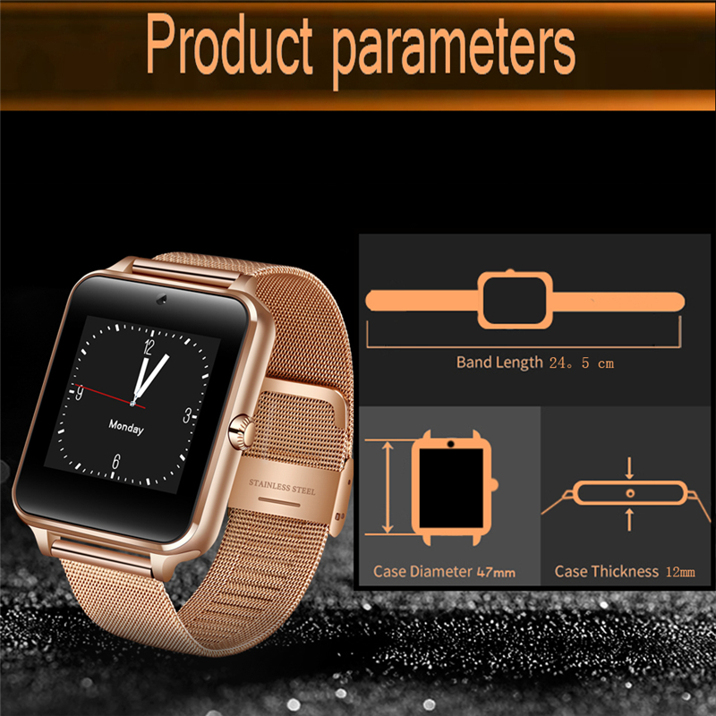 BANGWEI2018 New Smart Watch Men Fashion Stainless Steel Strap Support SIM Card TF Call LED Large Screen Camera Sport Watch + Box 4