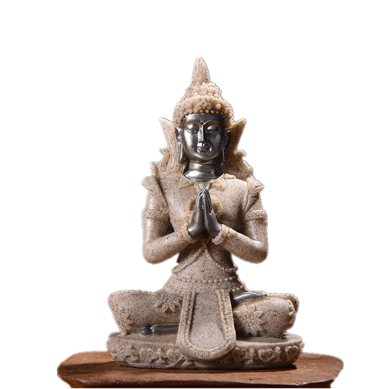 Statues Sculptures 11 Buddha Statue Nature Thailand Buddha Sculpture Hindu Fengshui Figurine Meditation Miniature Home Decor in Statues Sculptures from Home Garden