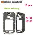 Оптовая продажа 10 шт./лот высокое качество среднего рамка для Samsung Galaxy Note 2 N7100 / N7105 ближний корпус запчасти экран шатона