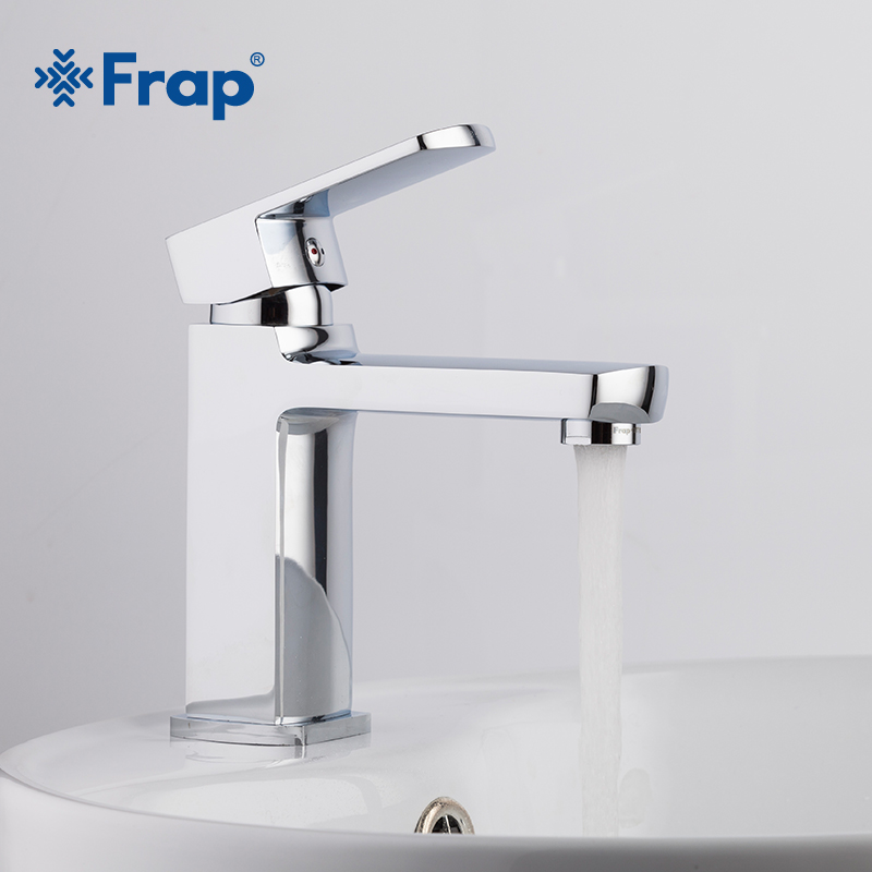 Frap Modern Style Free Shipping Basin Faucet Cold and Hot Water Mixer Torneira Da Bacia Single Handle F1073