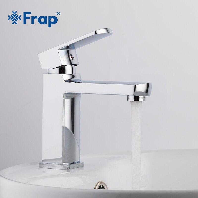 Frap Style moderne livraison gratuite robinet de bassin mélangeur d'eau froide et chaude Torneira Da Bacia poignée unique F1073