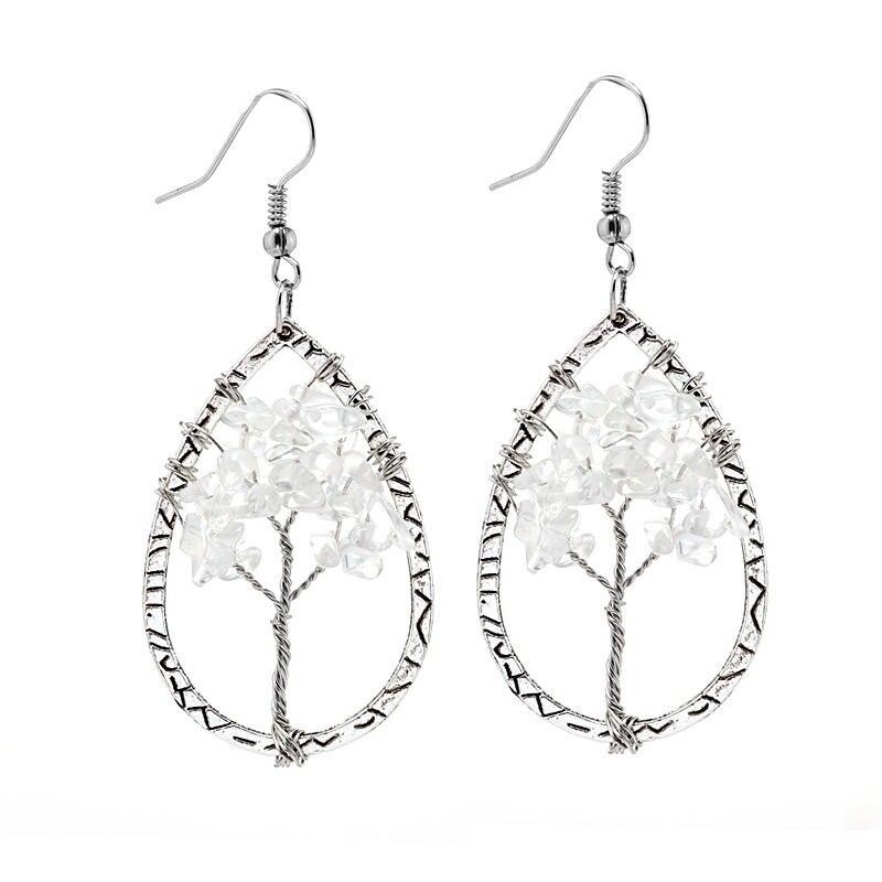 Handmade DIY jewelry creative personality crystal gravel Life Tree ...