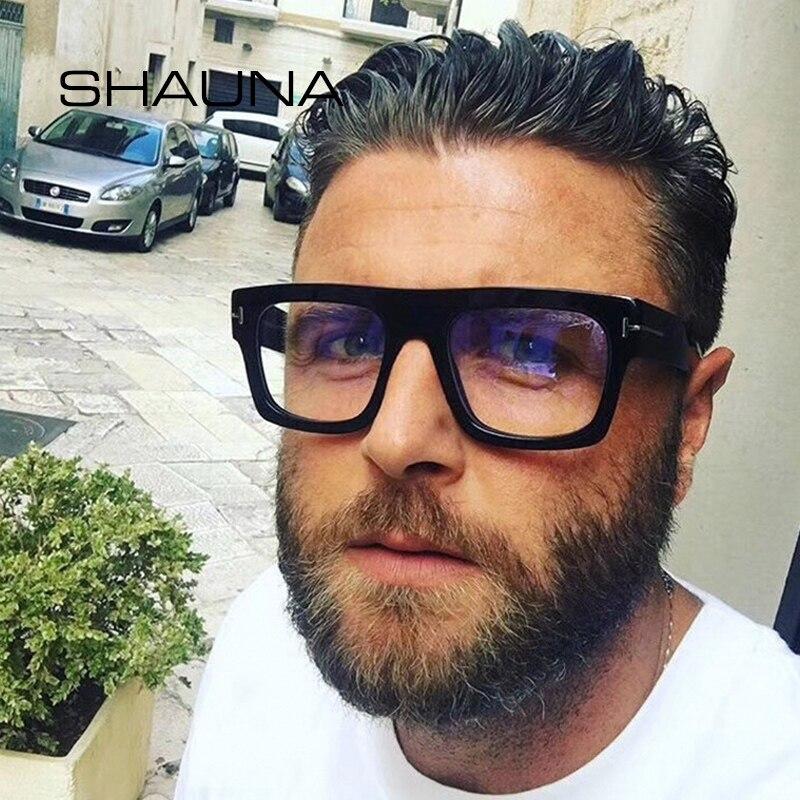 SHAUNA Oversize Square Eyeglasses Frame Women Optical Frame Men Glasses