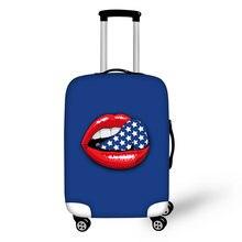 Бренд сексуальные губы 3d полиэстер Чехол для багажа стрейч