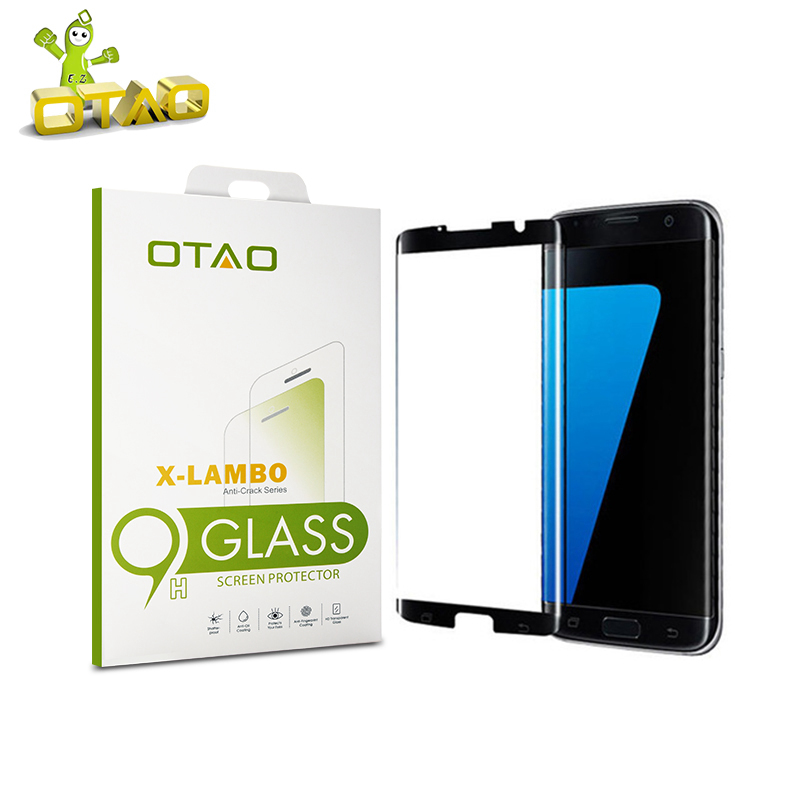 OTAO Case Friendly 3D Curved Tempered Glass Screen Protector for Samsung Galaxy S7 Edge