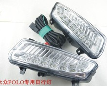 Hireno Super-bright LED Daytime Running Light for Volkswagen polo 2011-12 LED Car DRL fog lamp 2PCS