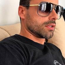 Pop Age Fashion New Square Brand Designer Sunglasses Men Sunglasses Driving Sun Glasses Male Metal Eyewear Gafas Oculos de sol