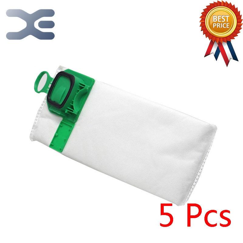 цена на 5Pcs For Vorwerk VK140 VK150 FP140 Vacuum Cleaner Accessories Dust Bag Garbage Bags Cloth Bag