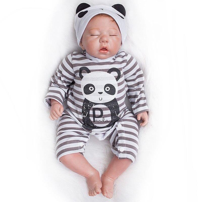 20 Cal Reborn Baby Doll miękkiego silikonu kończyn bawełna ciała realistyczne maluch lalki dla dzieci śpiące zabawki dla dzieci w Lalki od Zabawki i hobby na  Grupa 2
