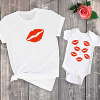2019 family matching clothes mommy and me tshirts mother daughter matching clothing big sister baby girl shirt summer  kiss son
