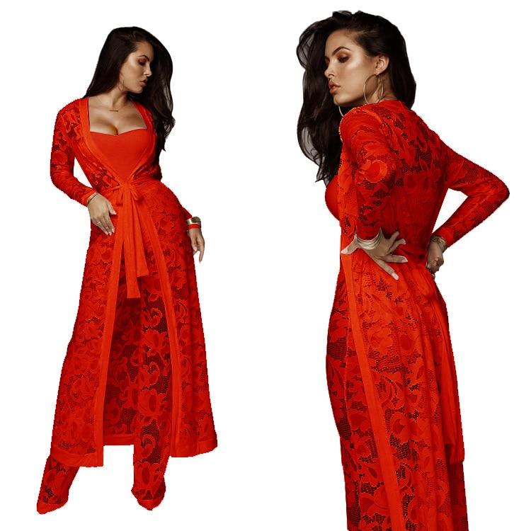 gorge Automne Et Pantalon Survêtement 2xl Sexy Dentelle Soutien red 2019 Rouge 1 Bureau Manches Set White S Longues Femmes black Élégant Blanc Printemps Z013 Clubwear 6a5qAZfw