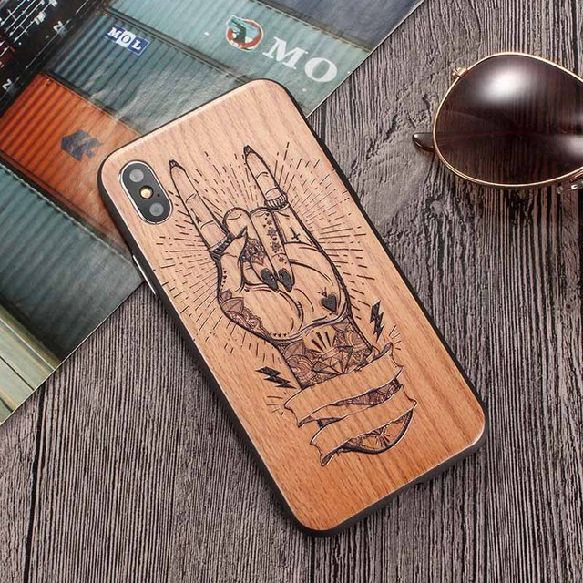 Wooden Phone Case for Huawei Models with PC Protective Layer