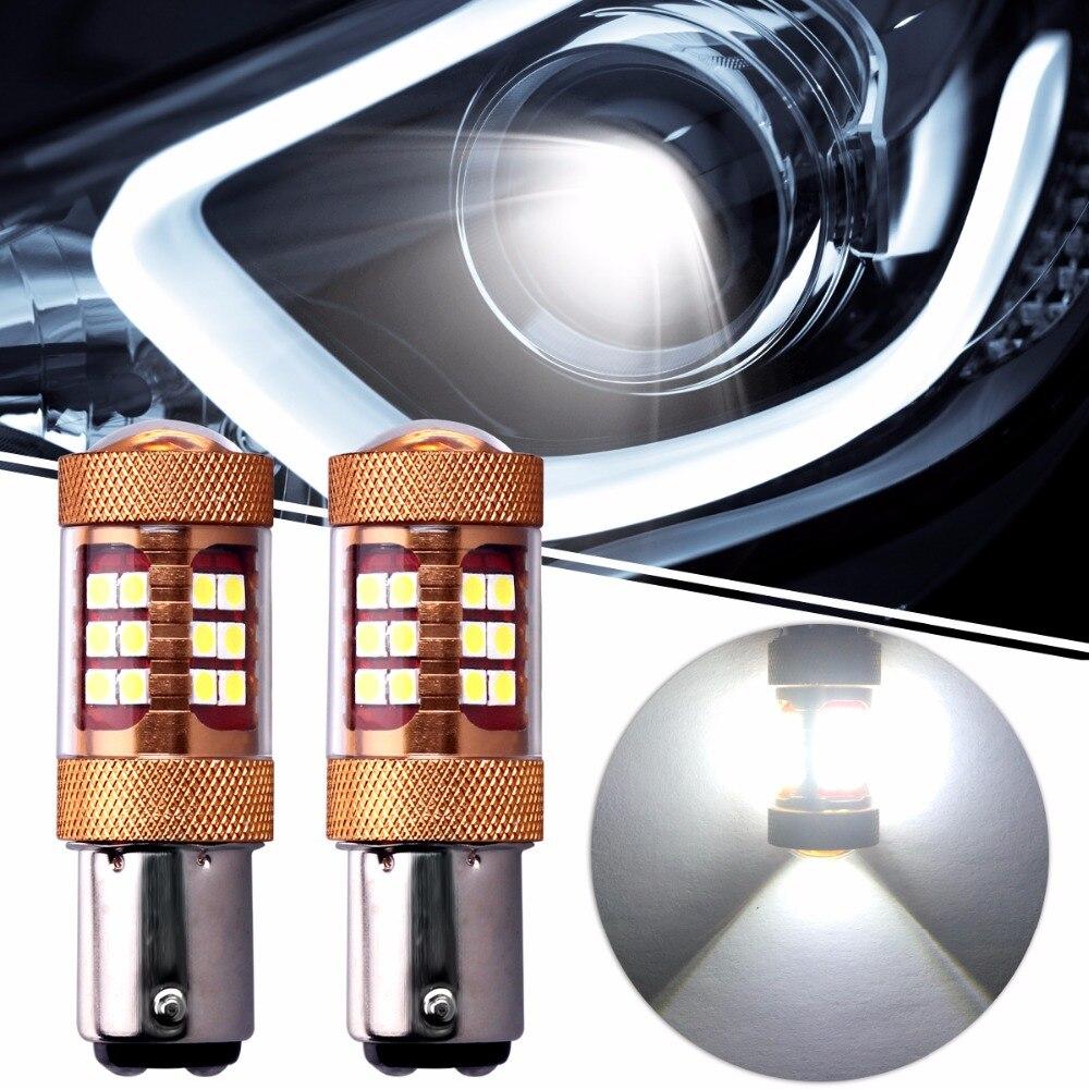 2PCS High Power S25 28SMD 3030 Chips BAY15D 1157 56W 900LM 6000K 12V Brake Lights DRL Daytime Running Light Stop Backup Lights
