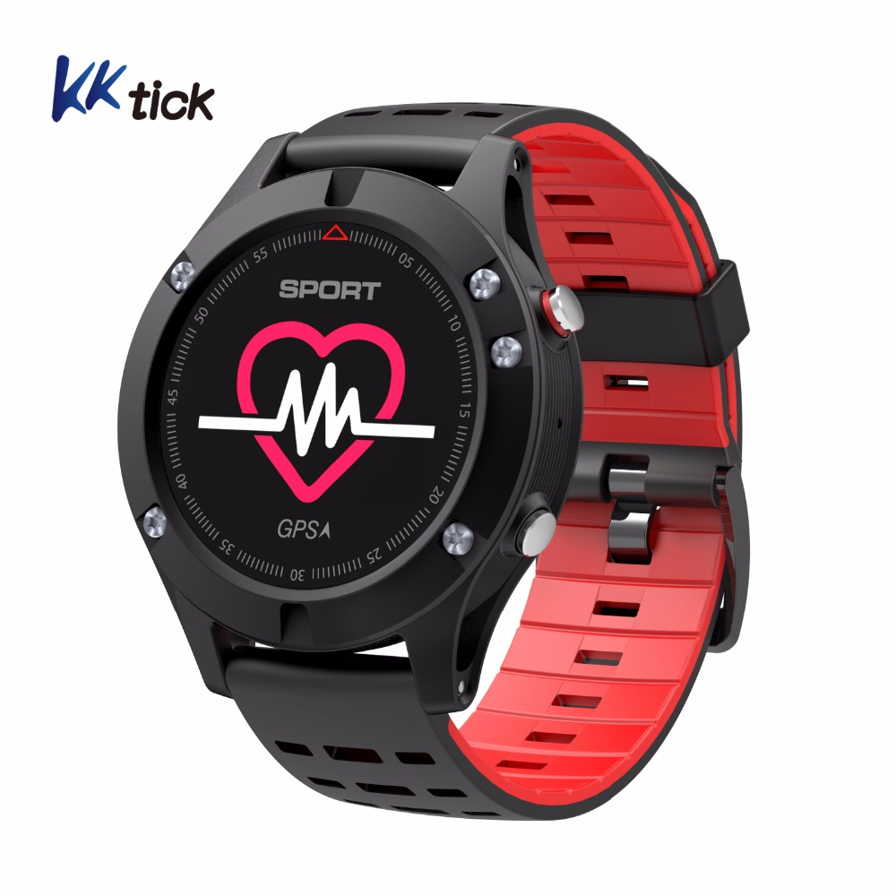KKTICK F5 GPS Smart watch Wearable Devices Activity Tracker Bluetooth 4.2 Altimeter Barometer Thermometer GPS Sport watch purple rhinestone shaped 6w 100 0603 smd led purple light string light silver dc 12v 1000cm
