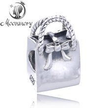 Charm Diy Fit Pandora Bracelet Authentic 925 Sterling Silver Lady Handbag Bead For Jewelry Making Wholesale