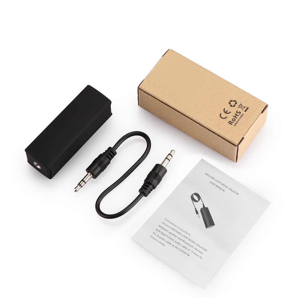 Onever 3.5mm Aux Audio filtr szumów pętli uziemienia izolator hałasu do samochodowego systemu Stereo systemie Audio Home Stereo filtr szumów
