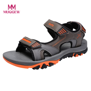 Men Sandals Summer Outdoor Beach Shoes Hiking Treking Male Lightweight Leather Sandals Open toe Walking Breathable Shoes(China)