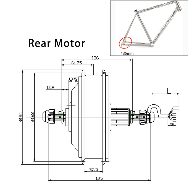 36V 250W 350W 500W Hinten Motor Rad mit Felge Sprach Ebike Kit Electric Bike Conversion Kit motor Rad Bürstenlosen Getriebe Hub Motor