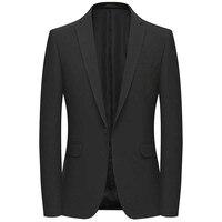 Leisure Suit Blazer for Men Casual Blazer Jacket 1 Button Jacket Coat Dress Office Wedding Blazer Male Clothing