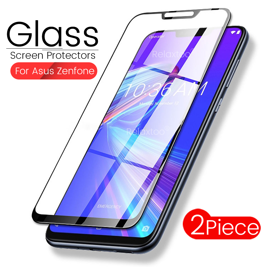 2PCS Glass For Asus Zenfone Max Pro M2 Zb631kl Tempered Glass For Zenfone Max M2 Zb633kl Sceen Protectors Film Maxpro M2 Glas