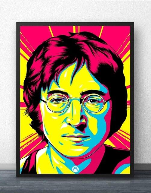 d7b3fc94113f7 John Lennon Pop Art Wall Art Paint Wall Decor Canvas Prints Canvas Art  Poster Oil Paintings No Frame
