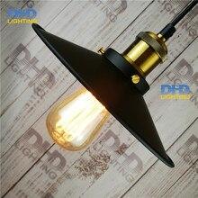 Окрашенные Железный Ретро старинные подвесной светильник Сельской Местности Эдисон Лампы 110-240 В Диаметр: 230 мм Подвесной светильник в Стиле Ретро e27 винтаж