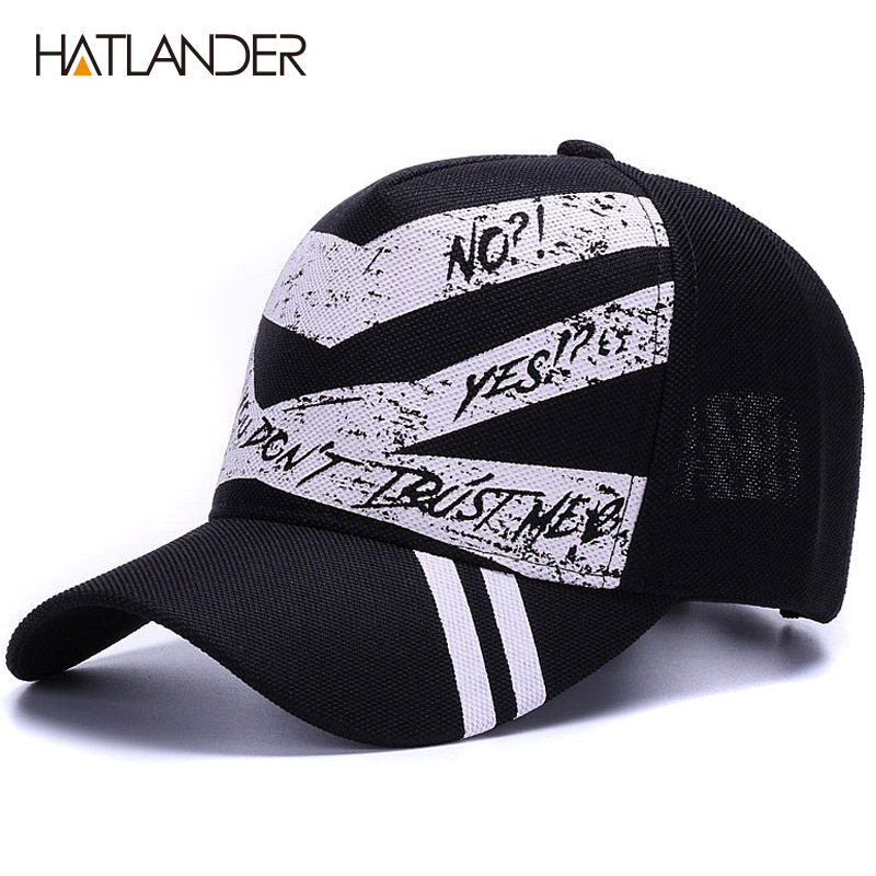 [HATLANDER]Fashion 5panel graffiti   baseball     caps   women outdoor sports hats men   cap   gorras summer casual running hat