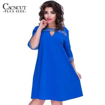 1dad92de2 2019 mujeres otoño vestido de talla grande suelto Vestidos de talla grande  para mujer moda tres ...