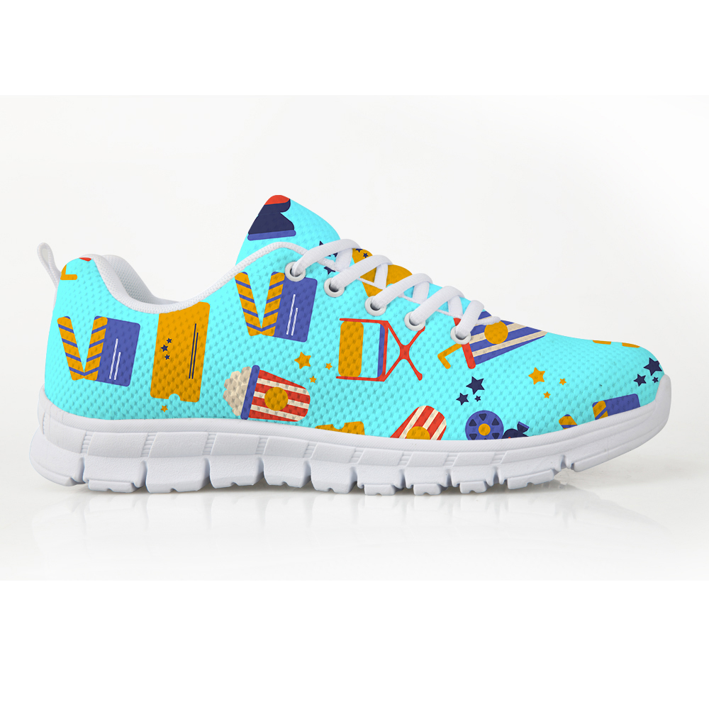 Sneakers up cc4392aq cc4393aq Marque Femelle Chaussures Dentelle Mignon Noisydesigns cc4394aq Designer Maille Aq cc4391aq Confortable Femmes Printemps Custom Puzzle Plat Film 1PHqCdUv