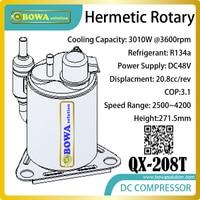 DC48V компрессор кондиционера подходит для блока переменного тока без присмотра базовой станции drived солнечной энергии