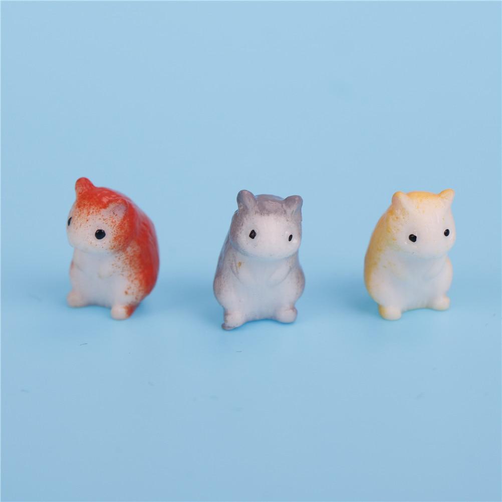 Craft Hamster Terrarium-Decoration Miniature Micro-Gnome Animals Fairy Garden Resin 1pc