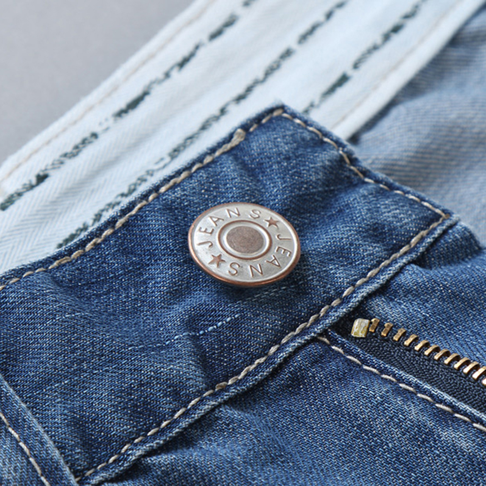 a1f18115d € 27.92 |Hombres Pantalones Cortos de Mezclilla Delgada Agujero Apenada  Jeans Cortos Hasta La Rodilla Estiramiento Tela de Algodón Lavado Oscuro ...