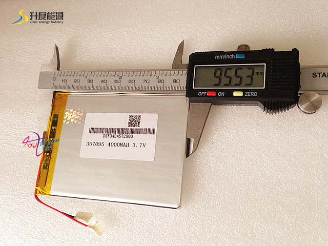 3,7 в 4000 мАч (полимерный литий-ионный аккумулятор) литий-ионный аккумулятор для планшетного компьютера 7 дюймов MP3 MP4 [357095] Бесплатная доставка