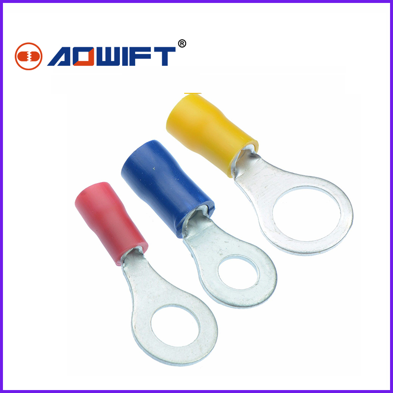 Red Blue Yellow Insulated Crimp Fork Terminals Electrical Connectors