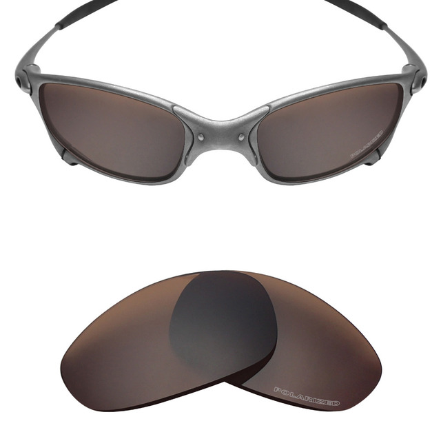 Mryok + Terpolarisasi Tahan Air Laut Lensa Pengganti untuk Oakley Juliet X  Logam Kacamata Perunggu Coklat 42b4f610c7