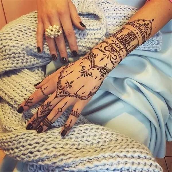 1Pc Black Henna Tattoos Indian Temporary Tattoo Ink Hand Arm Leg Body Art Tattoo Paint Paste YE3 5