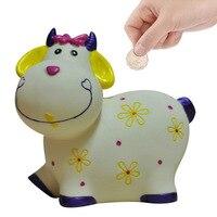 New Style Saving Money Pot Piggy Bank Pretty Sheep Shape Money Box Plastic Cents Storage Case