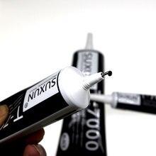 2 шт 15 мл новая упаковка T7000 супер черная эпоксидная смола T-7000 черный корпус резиновый супер герметик мобильный телефон сенсорный экран repa