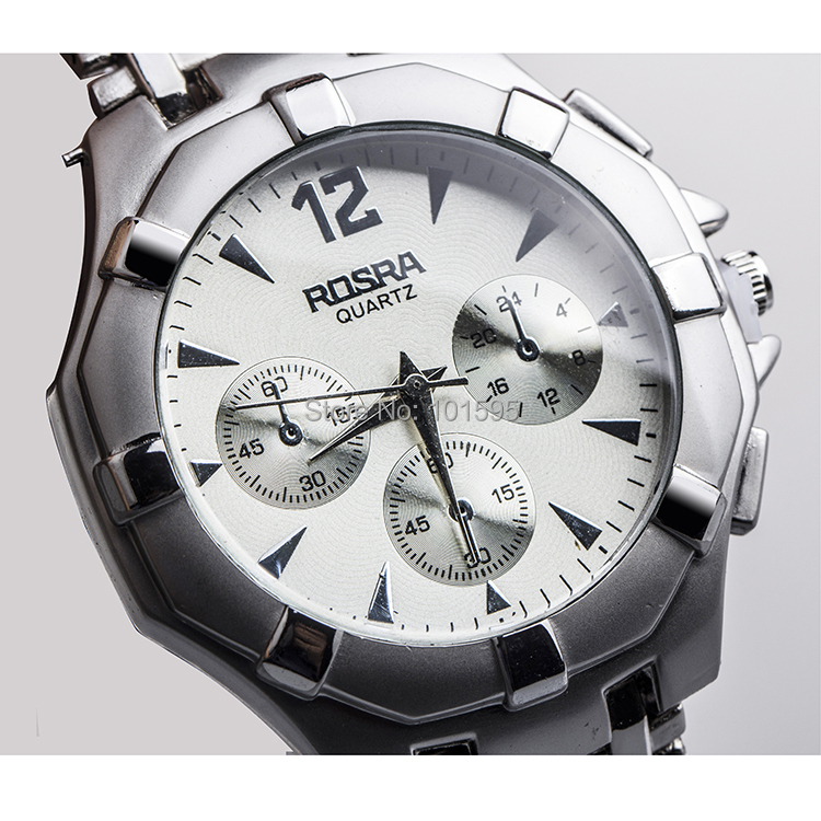 Rosra full steel watch 3colors discount casual watches analog stainless steel wristwatches hot for Rosra watches