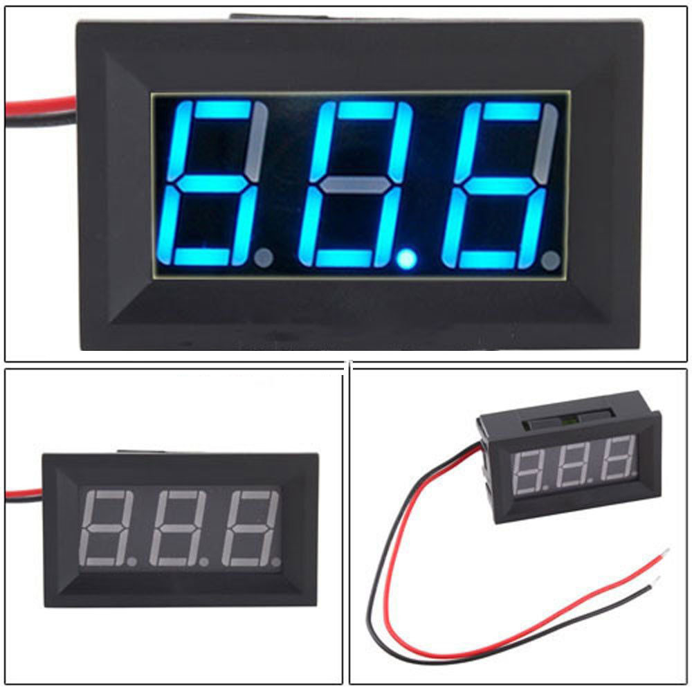 Panel Led Display Dc45 30v 2 Wire Blue Voltage Meter Voltmeter Reflector Sheet Reflective Tape Target Sticker Laser For Total Station Aeproductgetsubject