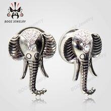 Kubooz дизайн слона пирсинг в уши туннели плоти пробки тела
