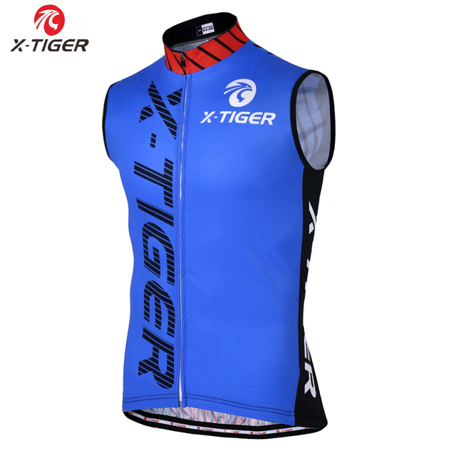 X-Tiger Cycling Jerseys Vest Sleeveless Bike Clothes Hombre Maillot Ropa Ciclismo Breathable Mtb Road Riding Bicycle Wear