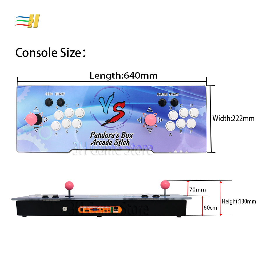 New Pandora Box 9 1500 in 1 Arcade Game Iron Console 2 Players Joystick  Button HDMI VGA usb joystick for pc ps3 TV 5s 6 6s 7