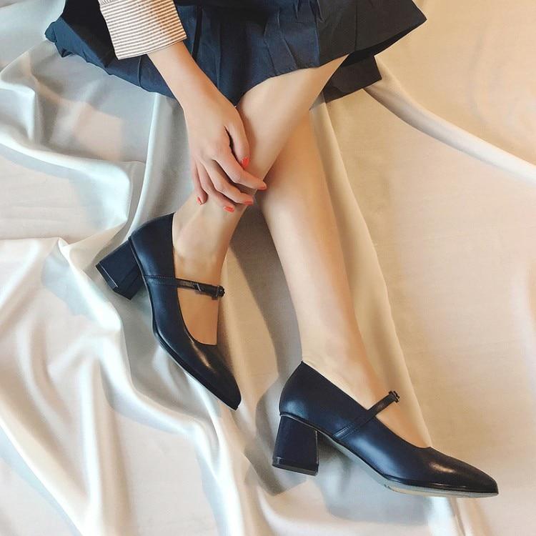 Mary Solos Janes Verano Tacones 2018 Negocios Zapatos Baja Mujer {zorssar} Punta rojo Azul Trabajo De 5z4wxqqE
