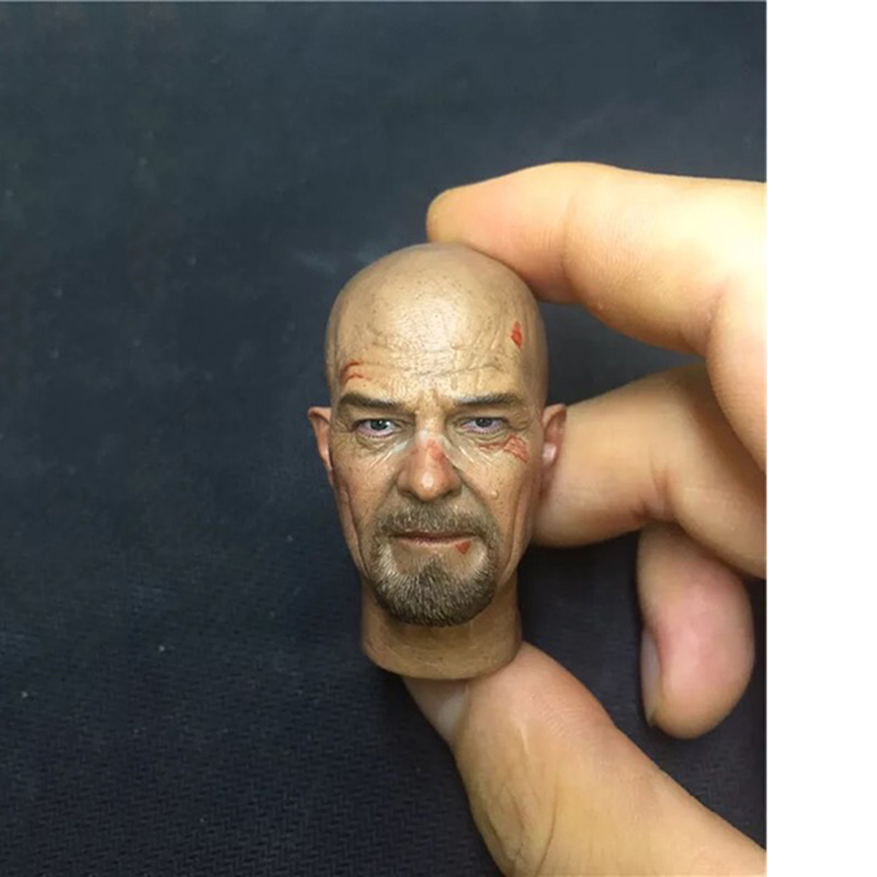 1/6 Chemistry Teacher Breaking Bad Walter Head Damaged Version for 12 inches Bodies 158pcs molecular model organic chemistry molecules structure model for chemistry teaching