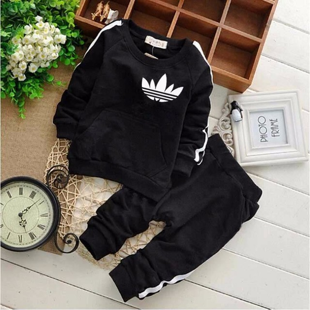 Brand Baby Boys Girls Clothes Sets Casual Child Clothing Suits Sweatshirts pants 2 pcs Baby Sports Clothes Suits